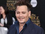 """Celebrities arrive for the U.S. Premiere of """"Alice Through The Looking Glass"""". Held at El Capitan Theatre in Hollywood, California.  Pictured: Johnny Depp Ref: SPL1289567  230516   Picture by: Jen Lowery/Splash News  Splash News and Pictures Los Angeles: 310-821-2666 New York: 212-619-2666 London: 870-934-2666 photodesk@splashnews.com"""