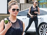 EXCLUSIVE. COLEMAN-RAYNER.\nLos Angeles, CA, USA. June 09, 2016.\nNew mom Chrissy Teigen shows off her slim post baby body less than two months after giving birth to daughter Luna Simone Stephens in April. The model was spotted hitting the gym clad in an all-black ensemble amid reports admitting she and husband John Legend want to have another baby sooner rather than later.\nCREDIT LINE MUST READ: RF/Coleman-Rayner\nTel US (001) 323 545 7548 - Mobile\nTel US (001) 310 474 4343 - Office\nwww.coleman-rayner.com