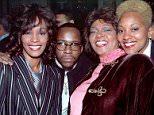 Whitney Houston, Bobby Brown, Cissy Houston, and Robin Crawford at the Arista Pre-Grammy Party. February 1, 1994. �?Lenny Baker/ Retna Ltd.