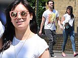 (EXCLUSIVE PICTURES ALL ROUND) Model Daisy Lowe and Darius Campbell spotted arm around each other's waist as they enjoy the sunshine in London. The Pop Idol legend and Funny Girl star wearing a Madonna t-shirt has been rumoured to be dating the curvy model and judging on these pictures they are clearly an item... 09/06/2016..BYLINE MUST READ : JAMESY/GOTCHA IMAGES....Copyright by © Gotcha Images Ltd. All rights reserved...Usage of this image is conditional upon the acceptance ..of Gotcha Images Ltd, terms and conditions available at..www.gotchaimages.com....