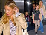 NEW YORK, NY - JUNE 08:  Kate Hudson and her sons, Ryder Robinson and Bingham Bellamy seen at JFK Airport on June 8, 2016 in New York City.  (Photo by Robert Kamau/GC Images)