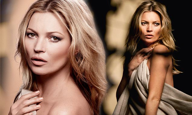Kate Moss nude to showcase her latest Rimmel cosmetics collection