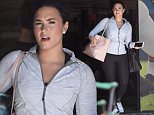 EXCLUSIVE: **PREMIUM RATES APPLY**Demi Lovato leaves her gym in Los Angeles.\n\nPictured: Demi Lovato\nRef: SPL1298412  080616   EXCLUSIVE\nPicture by: Splash News\n\nSplash News and Pictures\nLos Angeles: 310-821-2666\nNew York: 212-619-2666\nLondon: 870-934-2666\nphotodesk@splashnews.com\n