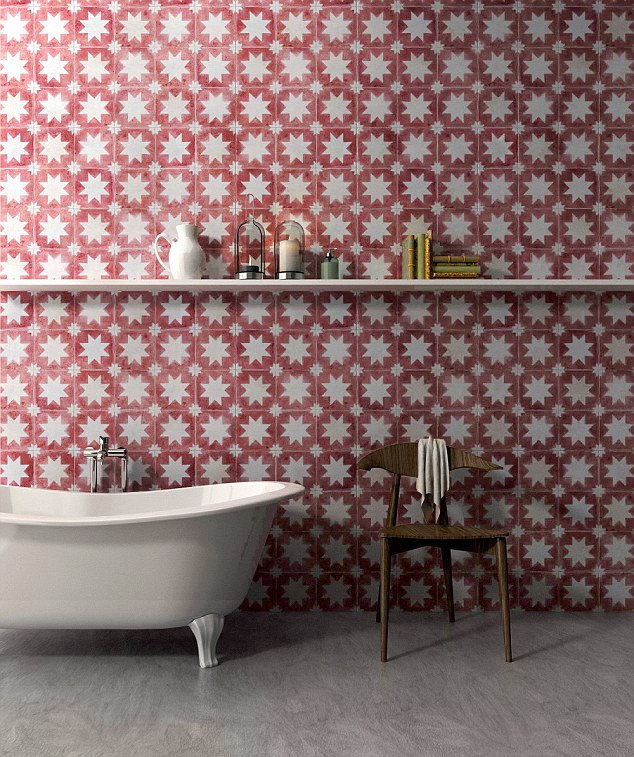 Star performer: The spanish-style Pradena Star tile by Bert & May adds warmth and character