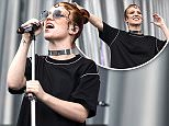 Mandatory Credit: Photo by James Gourley/REX/Shutterstock (5725662c)\nJess Glynne\nIsle of Wight Festival, UK - 10 Jun 2016\n