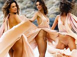 *EXCLUSIVE* Malibu, CA - Alessandra Ambrosio is seen shooting for what seems to be her newest fragrance for her Ale by Alessandra Ambrosio line. The Victoria Secret model looks gorgeous in a flowing blush gown that accentuated her body perfectly. The supermodel poses and smiles for the cameras as she moves with the wind elegantly. \nAKM-GSI       June 9, 2016\nTo License These Photos, Please Contact :\nMaria Buda\n(917) 242-1505\nmbuda@akmgsi.com\nsales@akmgsi.com\nor \nMark Satter\n(317) 691-9592\nmsatter@akmgsi.com\nsales@akmgsi.com\nwww.akmgsi.com