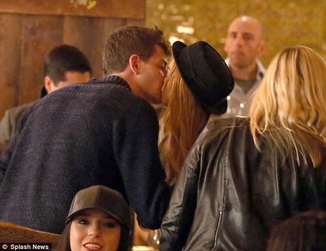 New love: Despite her tempestuous few weeks, the actress seemed on cloud nine with her new man