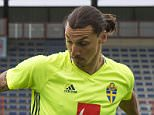 (L to R) Sweden's midfielder Albin Ekdahl, Sweden's forward and captain Zlatan Ibrahimovic, and Sweden's midfielder Kim Kallstrom attend a training session at Swedens training ground in Saint-Nazaire, on June 10, 2016, prior to the beginning of the Euro 2016 football tournament. / AFP PHOTO / JONATHAN NACKSTRANDJONATHAN NACKSTRAND/AFP/Getty Images