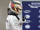 Formula One -Canadian Grand Prix - Montreal, Quebec, Canada - 11/06/16 - Mercedes Benz F1 driver Lewis Hamilton gestures after qualifying session.  REUTERS/Chris Wattie