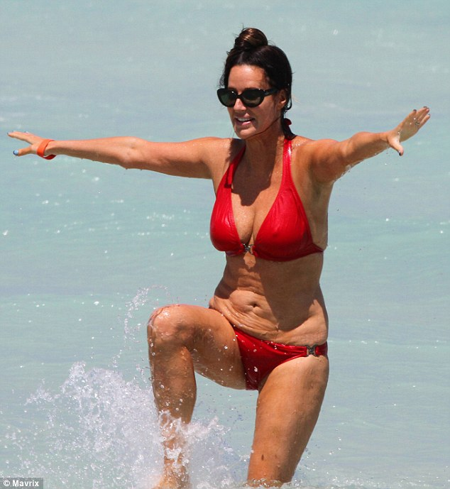 The result: The television personality has lost 30lbs over the past two years using weight loss system Sensa