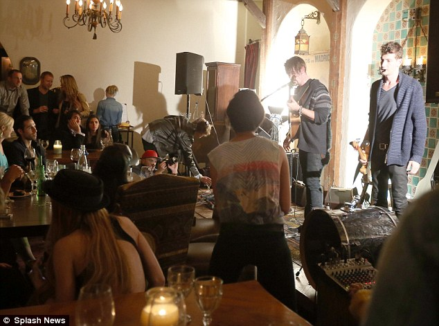 Busy night: The indie band played to a packed room in the Santa Monica hotspot, building momentum