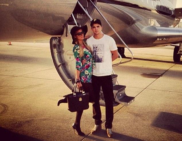 Jetting off again: The pair were soon in the air again, bound for a Las Vegas weekend getaway
