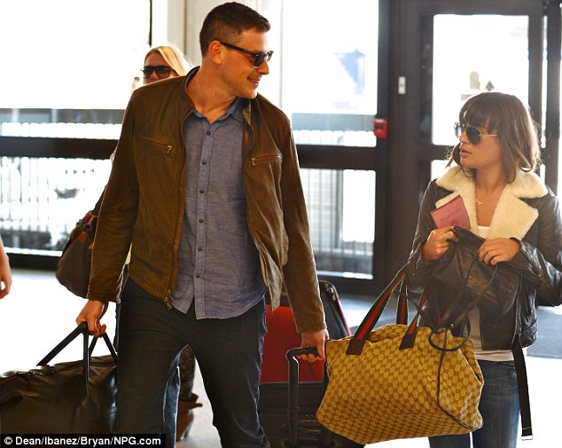 Reunited: The Glee actor arrived at LAX with girlfriend Lea Michele as they prepared to board a flight