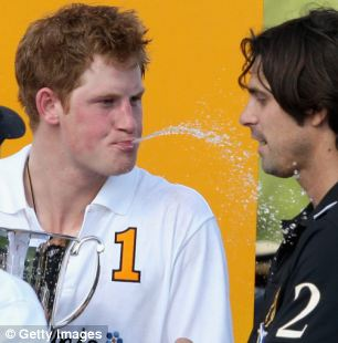 Prince Harry spat champagne at Nacho Figueras as he celebrated a win over the 'David Beckham of polo' in 2009