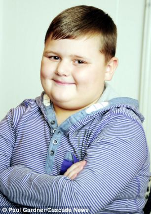 All change: Harrison Kershaw, 8, has developed narcolepsy and cataplexy since having the swine flu jab in 2010