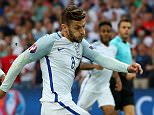 MARSEILLE, FRANCE - JUNE 11: Adam Lallana of England shoots at goal during the UEFA EURO 2016 Group B match between England and Russia at Stade Velodrome on June 11, 2016 in Marseille, France.  (Photo by Alex Livesey/Getty Images)