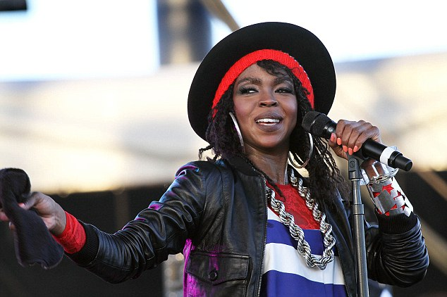Going back to work: Lauryn Hill performs during the 12th Coachella Valley Music and Arts Festival in Indio, California on April 15, 2011