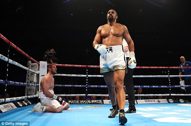 David Haye was labelled a 'time waster' by Boxing News after his comfortable victory overArnold Gjergjaj