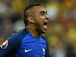 TOPSHOT - France's forward Dimitri Payet celebrates after scoring the 2-1 during the Euro 2016 group A football match between France and Romania at Stade de France, in Saint-Denis, north of Paris, on June 10, 2016. / AFP PHOTO / FRANCK FIFEFRANCK FIFE/AFP/Getty Images