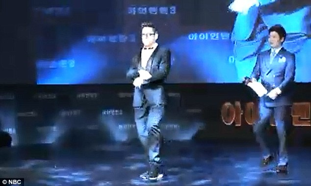 Oppa Downey style: Jay played a clip of the actor's spot on dance
