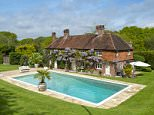 Dive in: The Crofters in Midhurst, West Sussex, is on the market for £1.375m with knightfrank.co.uk  On the market... pool perfection