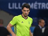 Germany's defender Mats Hummels attends a training session at the stadium Pierre Mauroy in Lille, northern France, on June 11, 2016, on the eve of the Euro 2016 football match between Germany and Ukraine. / AFP PHOTO / PATRIK STOLLARZPATRIK STOLLARZ/AFP/Getty Images