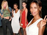 *EXCLUSIVE* Los Angeles, CA - Romee Strijd, Jasmine Tookes, and Taylor Marie Hill looked chic and sexy in their off duty looks as they head for a night out. The three Victoria Secret models were spotted earlier shopping together on a Saturday afternoon. Romee went for a simple and comfy look with a pair of jeans while Jasmine and Taylor dressed up for a night on the town.\nAKM-GSI   June  11, 2016\nTo License These Photos, Please Contact :\nMaria Buda\n(917) 242-1505\nmbuda@akmgsi.com\nsales@akmgsi.com\nor \nMark Satter\n(317) 691-9592\nmsatter@akmgsi.com\nsales@akmgsi.com\nwww.akmgsi.com
