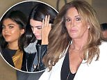 Kendall Jenner and Kylie Jenner have dinner with dad Caitlyn Jenner june 11, 2016 /X17online.com
