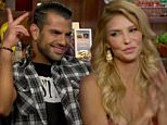 Brandi Glanville and Shervin Roohparvar on Watch What Happens Live with Andy Cohen