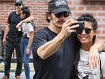 """New York, NY - Actor James Franco is seen leaving the Fiat Cafe in Little Italy. James is in the company of a female friend from the tv series """"The Deuce"""" as they scout locations Monday afternoon.\nAKM-GSI       June 13, 2016\nTo License These Photos, Please Contact :\nMaria Buda\n(917) 242-1505\nmbuda@akmgsi.com\nsales@akmgsi.com\nMark Satter\n(317) 691-9592\nmsatter@akmgsi.com\nsales@akmgsi.com\nwww.akmgsi.com"""