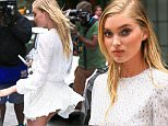 June 13, 2016: Elsa Hosk has a Marilyn Monroe moment as she is seen out and about in downtown New York City. Mandatory Credit: PapJuice/INFphoto.com infusny-286