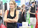 10.JUNE.2016 - HOLLYWOOD - USA *** STRICTLY AVAILABLE FOR UK AND GERMANY USE ONLY *** ** EXCLUSIVE ALL ROUND PICTURES ** Model, Lily-Rose Depp puts her daddy worries behind her and goes shopping for a new smart TV at Best Buy in Hollywood.  The Chanel spokesmodel was seen with her rumored 24-year-old boyfriend, Ash Stymes, as they walked into the store and shopped for the new TV.  Lily-Rose recently came in defense of her dad, Johnny Depp, when his estranged wife, Amber Heard, proclaimed that she suffered a physical attack by him via a cell phone. BYLINE MUST READ : AKM-GSI-XPOSURE ***UK CLIENTS - PICTURES CONTAINING CHILDREN PLEASE PIXELATE FACE PRIOR TO PUBLICATION ***