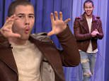 The Tonight Show with Jimmy Fallon June 13, 2016 \nActor Liam Hemsworth and singer Nick Jonas visit with Jimmy. Nick Jonas also performs as musical guest.\nAfter Jay Leno's retirement from the show, Jimmy Fallon stepped in as his permanent replacement and has moved the show back to New York City. The format of the show has remained largely unchanged, consisting primarily of an opening humorous monologue, followed by several celebrity interviews, comedy sketches and musical number\n
