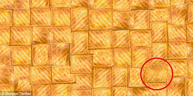The cheese and onion bake is tucked away in the bottom right hand corner (circled in red)