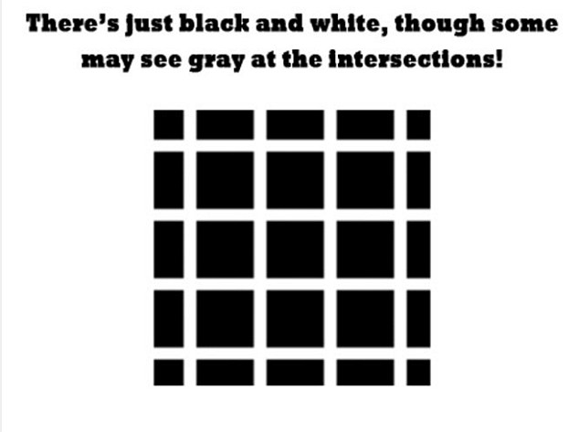 Some challengers may see grey marks at the intersections between the squares