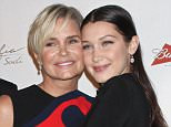 Mandatory Credit: Photo by Gregory Pace/BEI/Shutterstock (5225776br)\nYolanda H. Foster and Bella Hadid\nGlobal Lyme Alliance Gala, New York, America - 08 Oct 2015\n\n