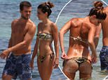 IBIZA, SPAIN - JUNE 11: Miralem PjaniÉ with wife Josepha seen on June 11, 2016 in Ibiza, Spain. (Photo by Robino Salvatore/GC Images)