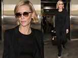 Cate Blanchett wears all black outfit as she arrives at LAX airport in Los Angeles, CA....Pictured: Cate Blanchett..Ref: SPL1299904  130616  ..Picture by: iPix211/London Entertainment ....Splash News and Pictures..Los Angeles: 310-821-2666..New York: 212-619-2666..London: 870-934-2666..photodesk@splashnews.com..