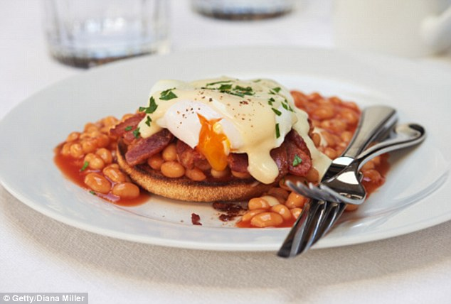 A decent meal, can help to replace some of the lost nutrients your body will have used to detoxify the alcohol. Ms Wilkinson said: 'Ideally choose eggs, because they are rich in cysteine, which is needed to break down acetaldehyde.Beans are a good source of fibre and folic acid, as well as protein to help with the body's recovery'