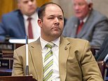 FILE - In this is April 6, 2016, file photo, Rep. Andy Holt, R-Dresden, attends a House floor debate in Nashville, Tenn. Holt said on Tuesday, June 14, 2016, that his office has received threats for his plans to hold a political fundraiser featuring a giveaway of the same type of semi-automatic rifle used by a gunman in the massacre of 49 people at an Orlando nightclub. (AP Photo/Erik Schelzig, file)