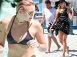 Victoria's Secret  Rachel Hilbert  enjoys a day by the pool and later by the beach in Miami, Florida.  Pictured: Rachel Hilbert and Boyfriend Ref: SPL1285657  140616   Picture by: Splash News  Splash News and Pictures Los Angeles: 310-821-2666 New York: 212-619-2666 London: 870-934-2666 photodesk@splashnews.com