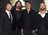 LOS ANGELES, CA - FEBRUARY 15:  Musicians Franz Stahl, Chris Shiflett, Dave Grohl, Pat Smear, Taylor Hawkins and Nate Mendel of Foo Fighters attend The 58th GRAMMY Awards at Staples Center on February 15, 2016 in Los Angeles, California.  (Photo by Larry Busacca/Getty Images for NARAS)