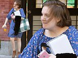EXCLUSIVE: Lena Dunham seen wearing a blue printed dress while carrying a laptop,I-Phone and orange juice in Brooklyn,New York\n\nPictured: Lena Dunham\nRef: SPL1302090  140616   EXCLUSIVE\nPicture by: Robert O'neil/Splash News\n\nSplash News and Pictures\nLos Angeles: 310-821-2666\nNew York: 212-619-2666\nLondon: 870-934-2666\nphotodesk@splashnews.com\n