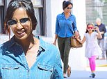 Padma Lakshmi was spotted picking up her daughter, Krishna and running errands She looked pretty in a Denim shirt, and olive pants. They strolled home, passing a Concrete Jungle Oasis.\n\nPictured: Padma Lakshmi\nRef: SPL1302203  140616  \nPicture by: 247PAPS.TV / Splash News\n\nSplash News and Pictures\nLos Angeles: 310-821-2666\nNew York: 212-619-2666\nLondon: 870-934-2666\nphotodesk@splashnews.com\n
