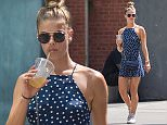 EXCLUSIVE: Nina Agdal is seen sipping iced coffee while walking with her friend after a gym workout in NYC, New York.\n\nPictured: Nina Agdal\nRef: SPL1300289  140616   EXCLUSIVE\nPicture by: TMNY/ Splash News\n\nSplash News and Pictures\nLos Angeles: 310-821-2666\nNew York: 212-619-2666\nLondon: 870-934-2666\nphotodesk@splashnews.com\n