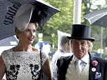 Sir Rod Stewart and wife Penny Lancaster during day two of Royal Ascot 2016, at Ascot Racecourse. PRESS ASSOCIATION Photo. Picture date: Wednesday June 15, 2016. See PA story RACING Ascot. Photo credit should read: Steve Parsons/PA Wire. RESTRICTIONS: Use subject to restrictions. Editorial use only, no commercial or promotional use. No private sales. Call +44 (0)1158 447447 for further information