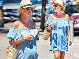 Picture Shows: Nicky Hilton  June 14, 2016\n \n Pregnant Nicky Hilton spotted out and about in New York City, New York. Nicky was all smiles as she made her way around the city wearing a baby blue dress and showing off her ever growing baby bump. \n \n Non Exclusive\n UK RIGHTS ONLY\n \n Pictures by : FameFlynet UK � 2016\n Tel : +44 (0)20 3551 5049\n Email : info@fameflynet.uk.com