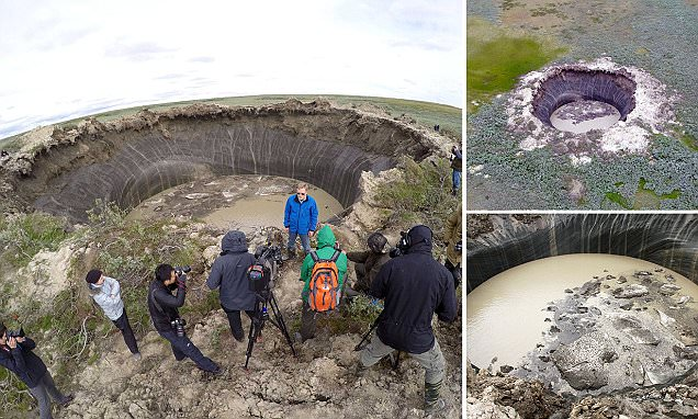 Gas eruptions behind Siberia's mysterious 200ft deep craters