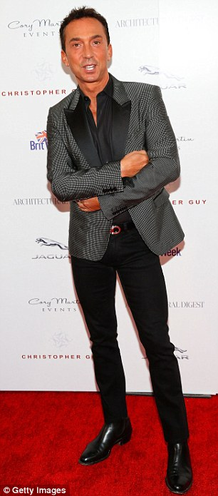 Competition: Designer Bobby Trendy was eye-catching in a zebra-striped top and killer platform boots, while Bruno Tonioli played it safe in an elegant black patterned jacket