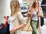 Jennifer Aniston walks in Soho with her jacket flapping in the wind llike a cape in New York\n\nPictured: Jennifer Aniston\nRef: SPL1303644  160616  \nPicture by: XactpiX/Splash News\n\nSplash News and Pictures\nLos Angeles: 310-821-2666\nNew York: 212-619-2666\nLondon: 870-934-2666\nphotodesk@splashnews.com\n